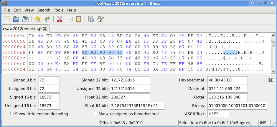 CSAW CTF 2012 - Reversing 400 - patched binary