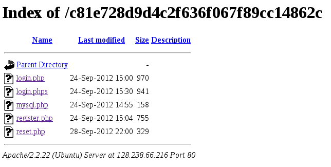 CSAW CTF 2012 - Web 200 - directory listing