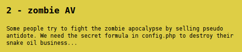 Hack.Lu CTF 2012 - Zombie AV - task description