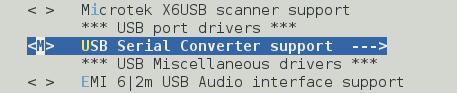 Android Kernel USB serial converter support