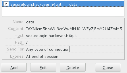 Hackover CTF 2015 - securelogin - cookie data