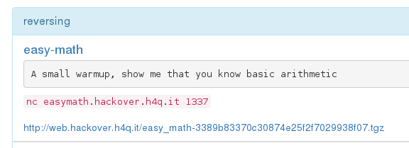 Hackover CTF 2015 - easy-math - task description